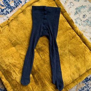 H&M Infant Girl Solid Dark Blue Tights, 6-12m